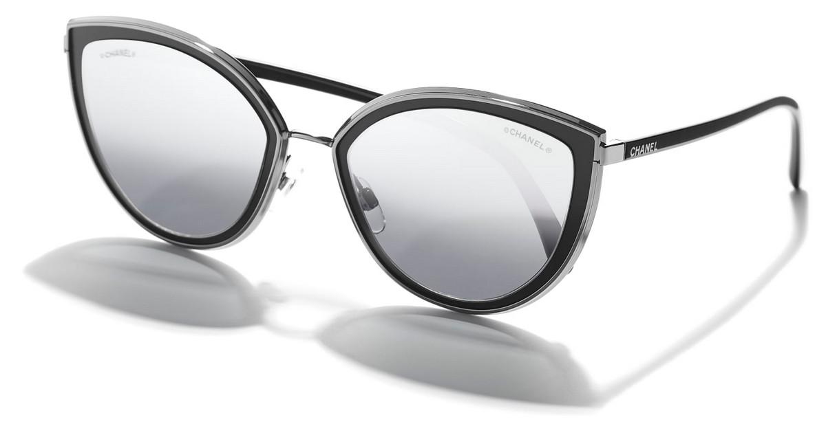 Chanel - CH4222 (CH4222, Rahmen: Gunmetal/Matte Black, Glas: Grey ...