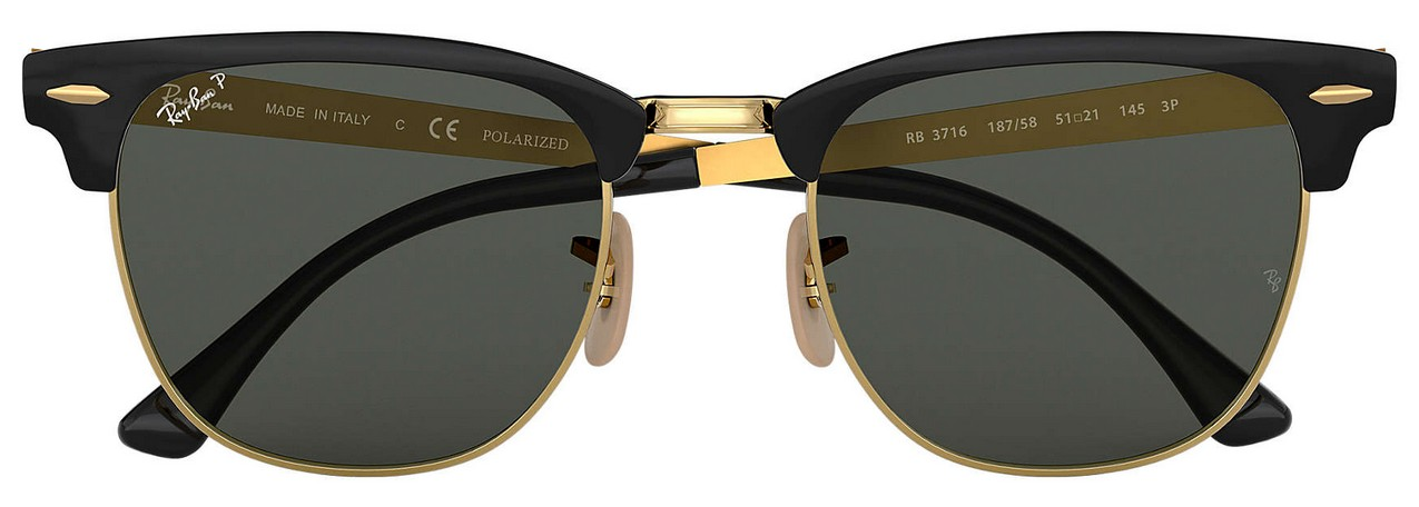 ray ban clubmaster metal rb 3716