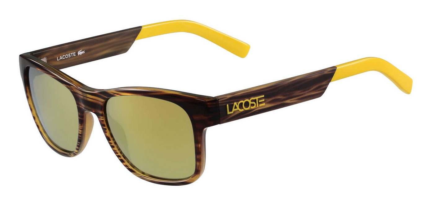 Lacoste - L829S (L829S, Rahmen: Brown, Glas: Yellow Gold Mirror)