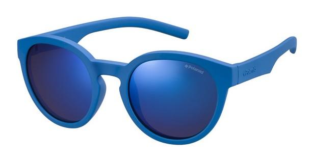 Polaroid Kinderbrillen Sonnenbrille » PLD 8019/S«, blau, ZDI/JY - blau/ blau