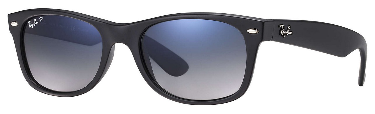 Ray Ban - New Wayfarer (RB 2132, Rahmen: Matte Black, Glas: Polar ...
