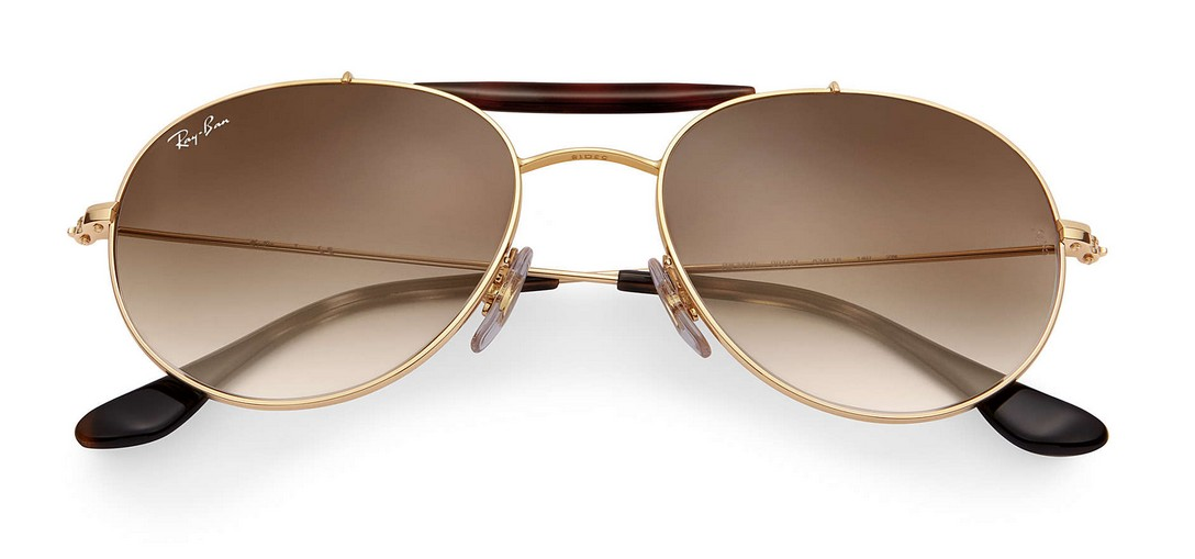 Ray Ban - RB 3540 (RB 3540, Rahmen: Gold, Glas: Light Brown Gradient ...