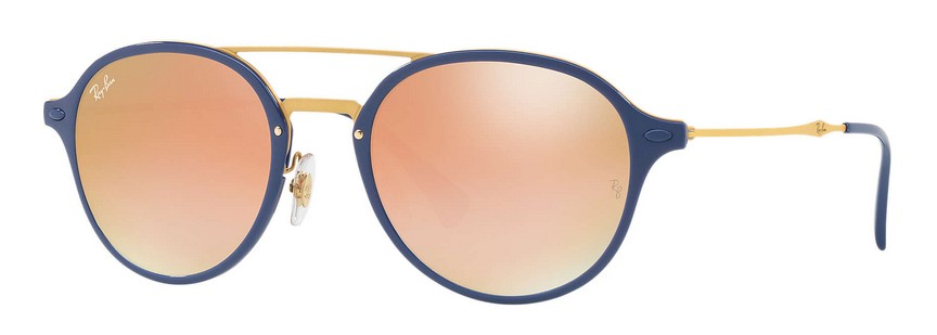 RAY BAN RAY-BAN Sonnenbrille » RB4287«, blau, 872/B9 - blau/orange