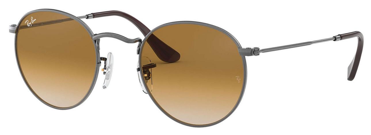 RAY BAN RAY-BAN Damen Sonnenbrille »ROUND METAL RB3447N«, grau, 004/51 - grau/braun