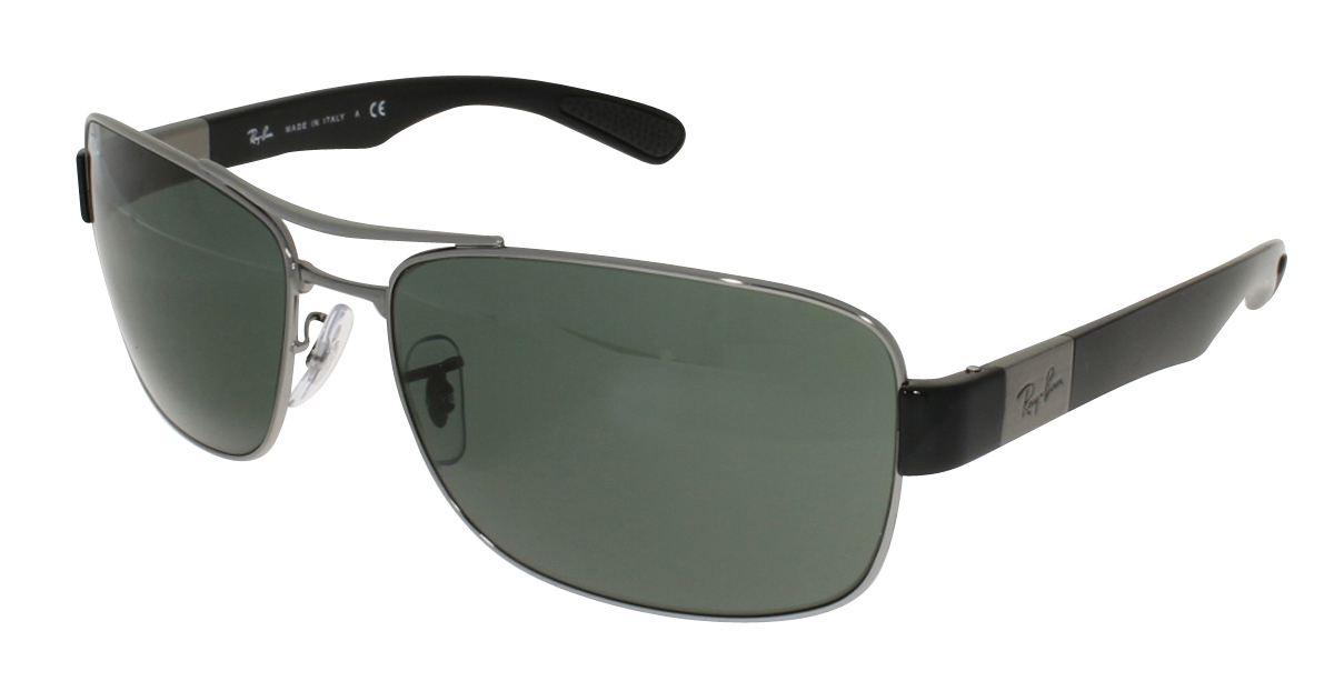 Ray Ban - RB 3522 (RB 3522, Rahmen: Gunmetal Black, Glas: Green)