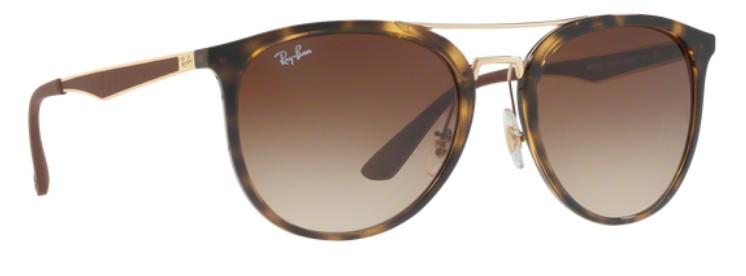 RAY BAN RAY-BAN Sonnenbrille » RB4285«, braun, 616688 - braun/silber