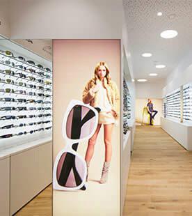 Ansicht eines Verkaufsraums der Miller Optik GmbH