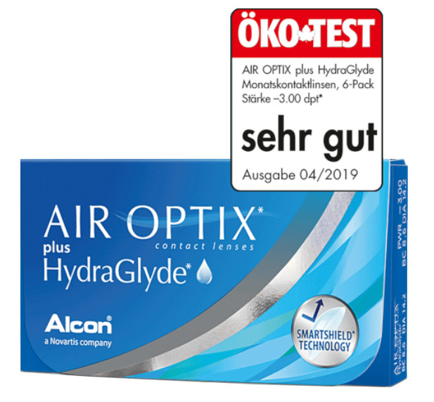 Air Optix Plus HydraGlade Monatslinsen 6er Packung