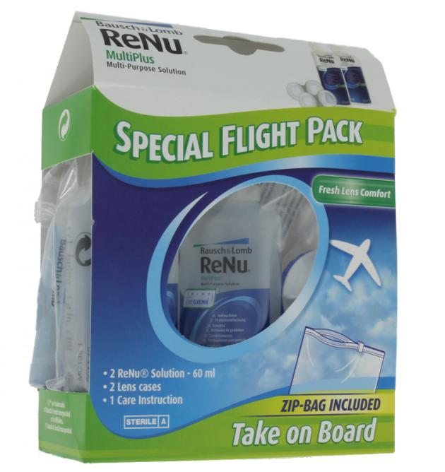 Renu Multiplus Fresh Lens Comfort Flight Pack