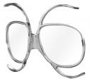 Clip-in Vollrand Skibrillen Transparent grey